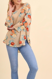 Umgee USA Floral Bohemian Blouse - Front cropped