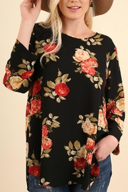 Umgee USA Floral Bohemian Blouse - Front full body