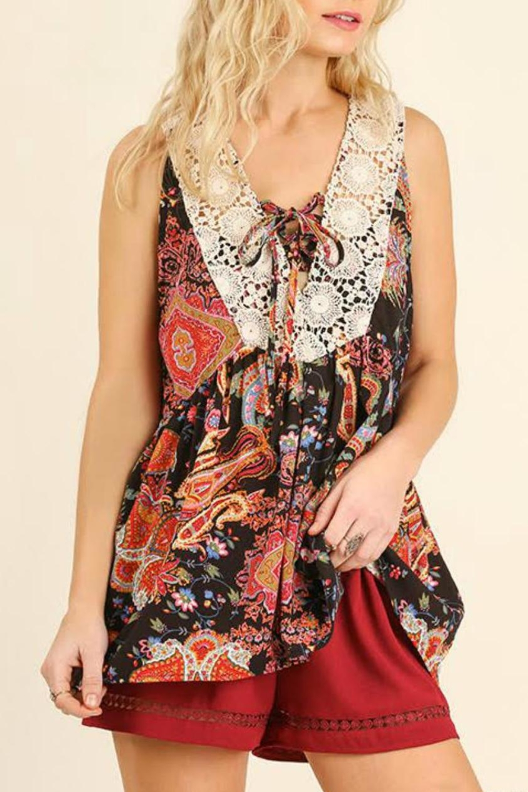 Umgee USA Floral Print Top - Front Full Image