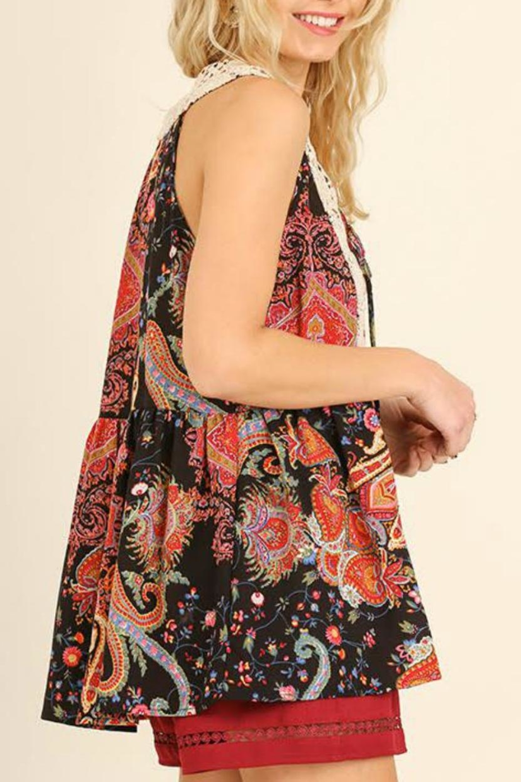Umgee USA Floral Print Top - Side Cropped Image