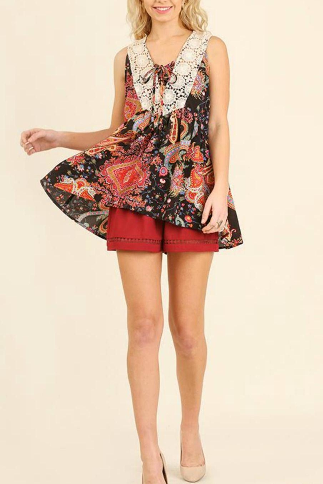 Umgee USA Floral Print Top - Front Cropped Image