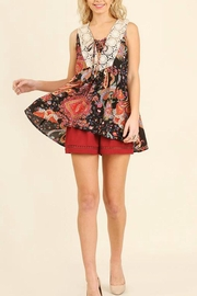 Umgee USA Floral Print Top - Front cropped
