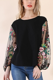Umgee USA Floral Puff Sleeve - Front cropped