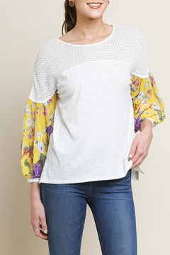 Umgee USA Floral Puff-Sleeve Top - Product List Image