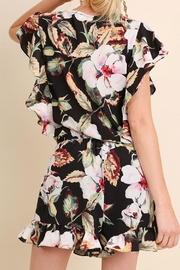 Umgee USA Floral Ruffle Romper - Back cropped