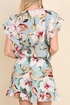 Umgee USA Floral Ruffle Romper - Alternate List Image