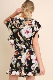 Umgee USA Floral Ruffle Romper - Side cropped