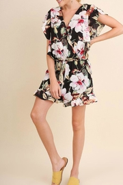 Umgee USA Floral Ruffle Romper - Front cropped
