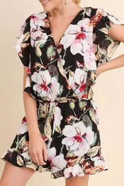 Umgee USA Floral Ruffle Romper - Front full body