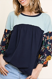 Umgee USA Floral Ruffle Sleeve - Product Mini Image