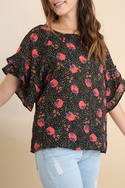Umgee USA Floral Ruffle Top - Side cropped