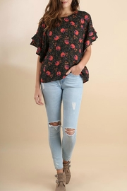 Umgee USA Floral Ruffle Top - Front cropped