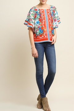 Umgee USA Floral Scarf Top - Product List Image