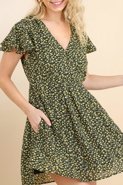Umgee USA Floral Skater Dress - Front full body