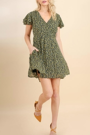 Umgee USA Floral Skater Dress - Front cropped