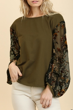 Shoptiques Product: Floral Sleeve Top