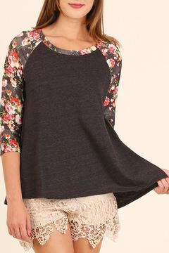 Shoptiques Product: Floral Three-Quarter Sleeve Top