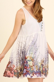Umgee USA Floral Sleeveless Dress - Front full body