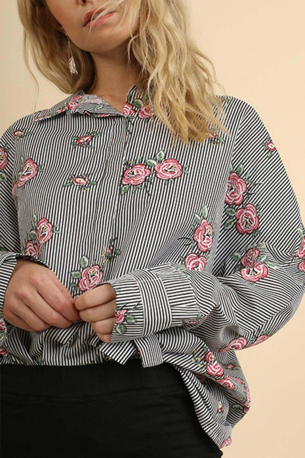 Umgee USA Floral & Striped - Front Full Image