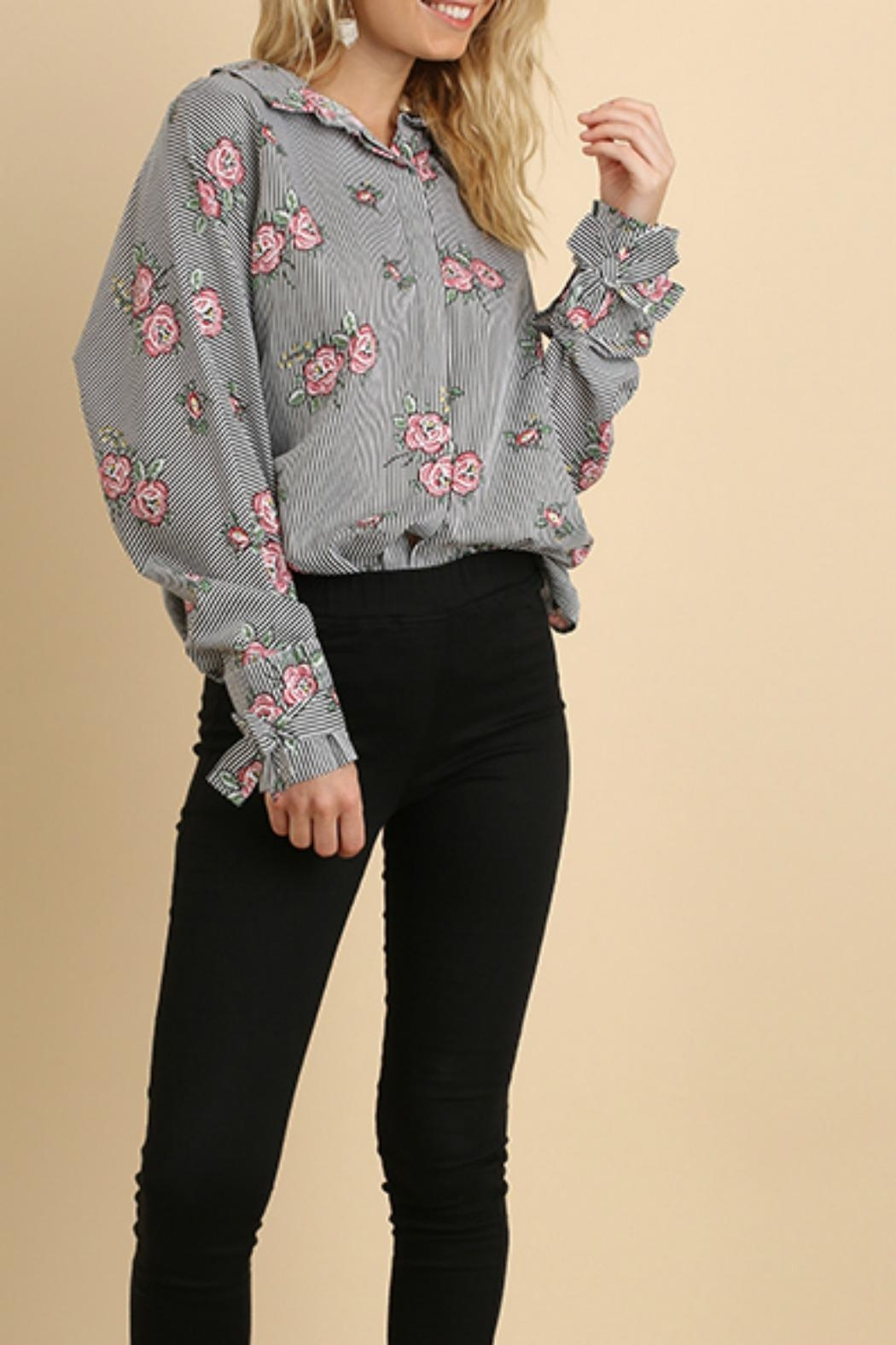 Umgee USA Floral & Striped - Front Cropped Image