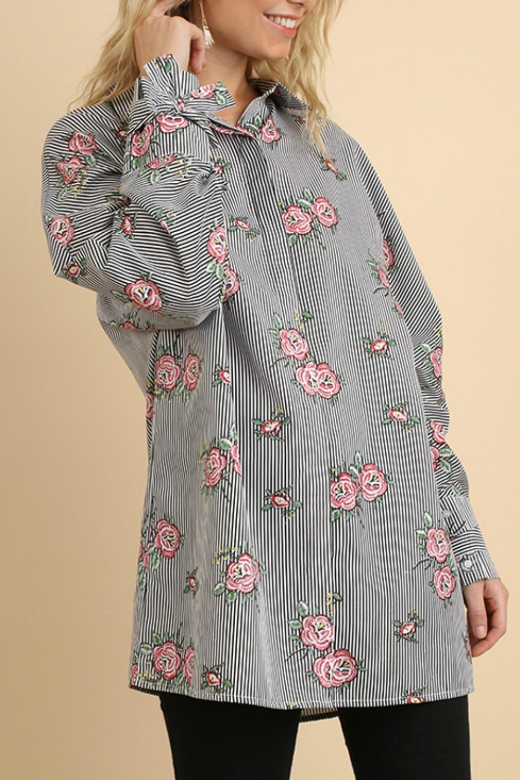 Umgee USA Floral & Striped - Side Cropped Image