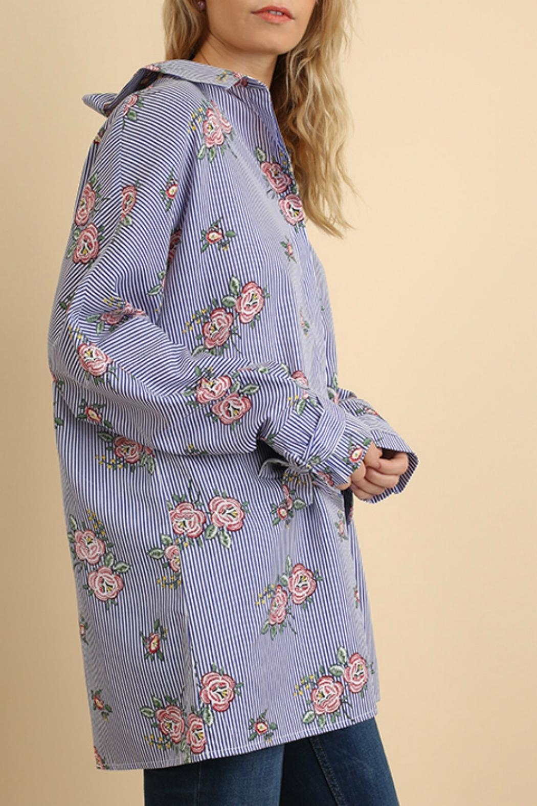 Umgee USA Floral & Striped - Back Cropped Image