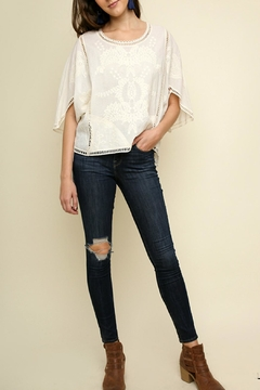 Shoptiques Product: Floral Tonal-Embroidery Top