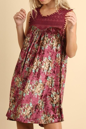 13f2fe01f342d Shoptiques · Umgee USA Floral Velvet Dress from Texas by Red Poppy ...