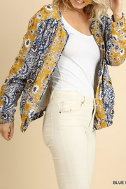 Umgee USA Floral Zip-Up Bomber - Side cropped