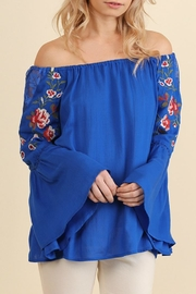 Umgee USA Blue Bell Sleeve Top - Product Mini Image