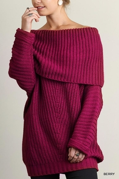 Shoptiques Product: Fold Over Sweater