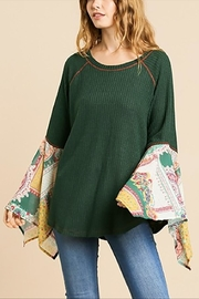 Umgee USA Forest Scarf Sleeve - Front cropped