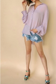 Umgee USA Frayed Hem Buttondown - Product Mini Image