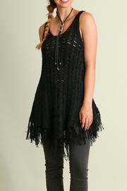 Umgee USA Fringe Knit Sweater Top - Product Mini Image