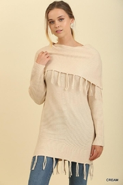 Umgee USA Fringe Ots Sweater - Product Mini Image