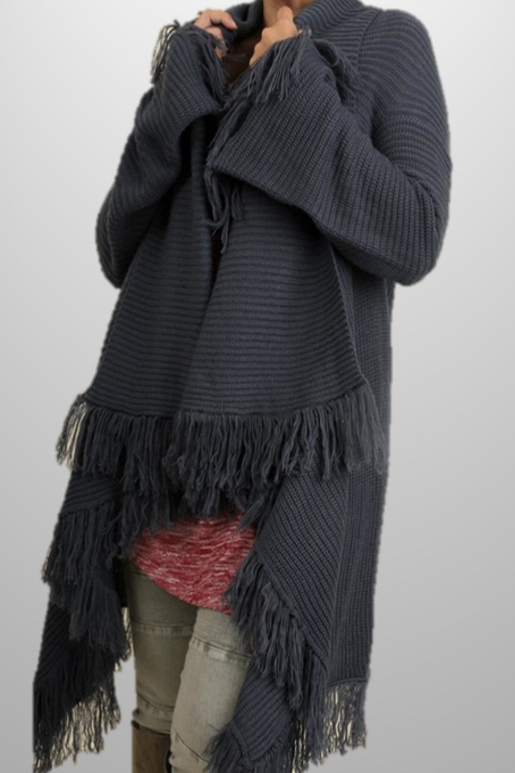 Umgee USA Fringe Sweater Shawl - Main Image
