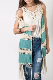 Umgee USA Fringe Duster Vest - Product Mini Image