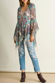 Umgee USA Fringed Sheer Kimono - Product Mini Image