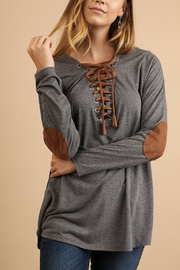 Umgee USA Front Tie Top - Product Mini Image