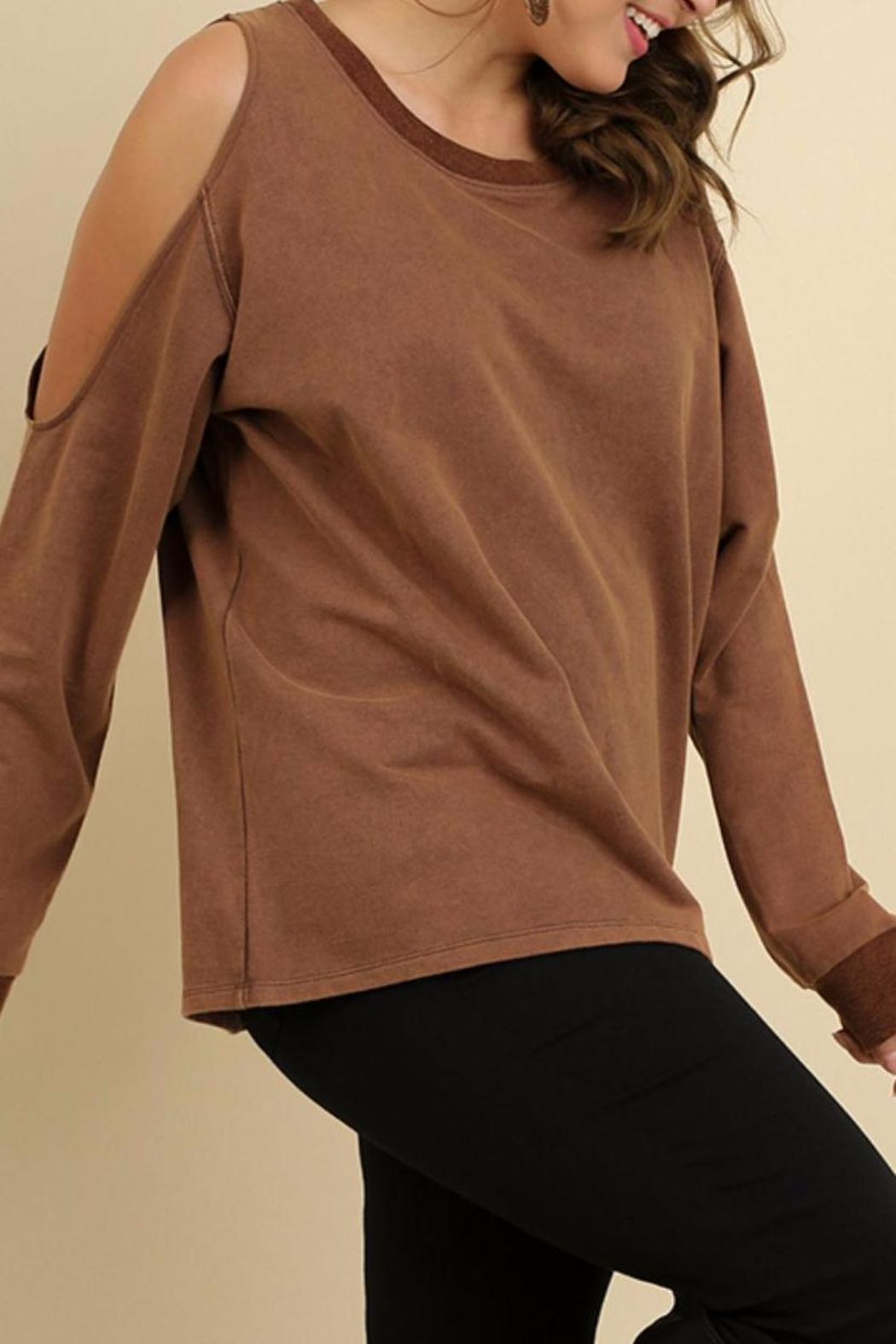 Umgee USA Long Sleeve Top - Front Full Image