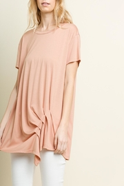 Umgee USA Gathered-Tuck Detail Top - Front cropped