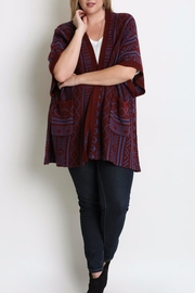 Umgee USA Geometric Oversized Cardigan - Product Mini Image