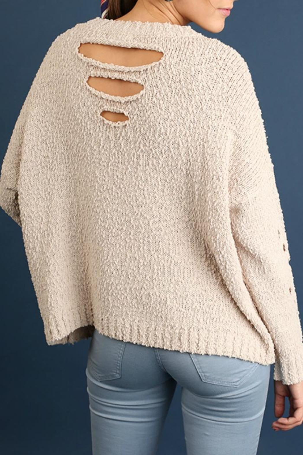 Umgee USA Get Caught Up Sweater - Front Full Image