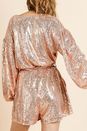 Umgee USA Gold Rose Romper - Side cropped