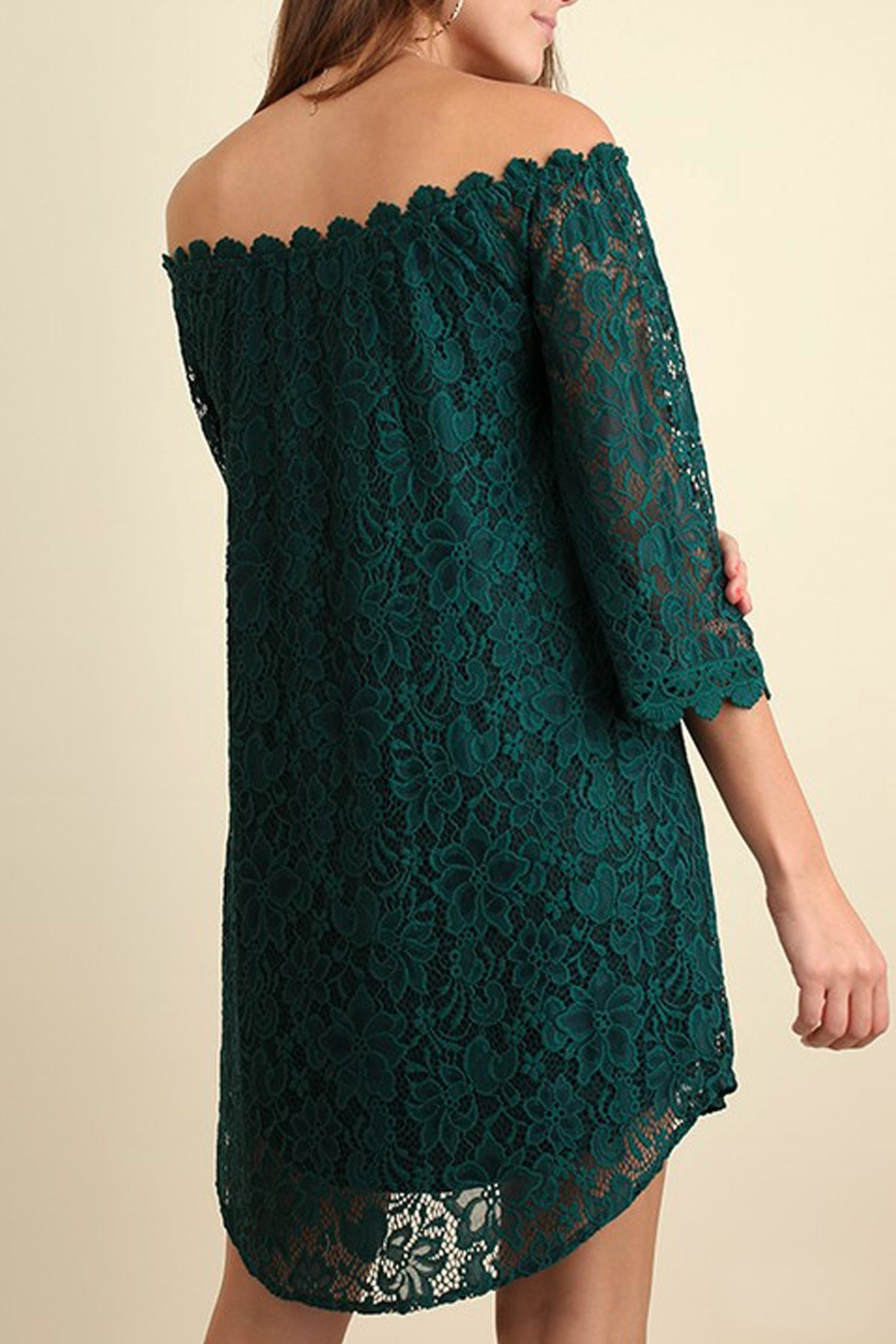 Umgee USA Green Lace Dress - Front Full Image