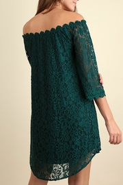 Umgee USA Green Lace Dress - Front full body