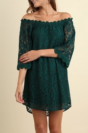 Umgee USA Green Lace Dress - Front cropped