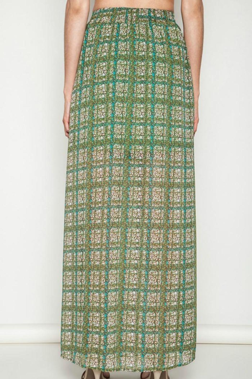 Umgee USA Green Printed Maxi Skirt - Side Cropped Image