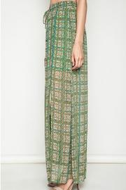 Umgee USA Green Printed Maxi Skirt - Front full body