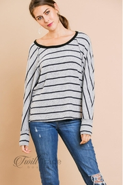Umgee USA Grey Fleece Sweater - Front cropped